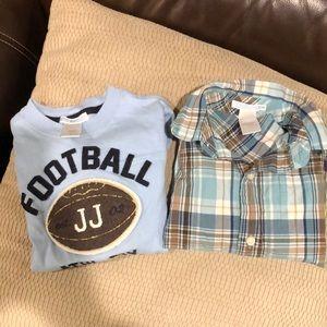 Bundle of 2 boy Janie and jack shirts